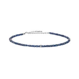 K18WG/ブルーサファイヤ/ダイヤモンド/アンクレット/RAW ENERGY