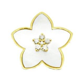 K18YG/ダイヤモンド/MOP/ラペルピン/BOUTONIERE