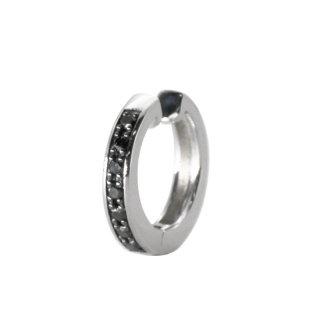K10WG/ブラックダイヤモンド/イヤーカフ/BLACK&WHITE