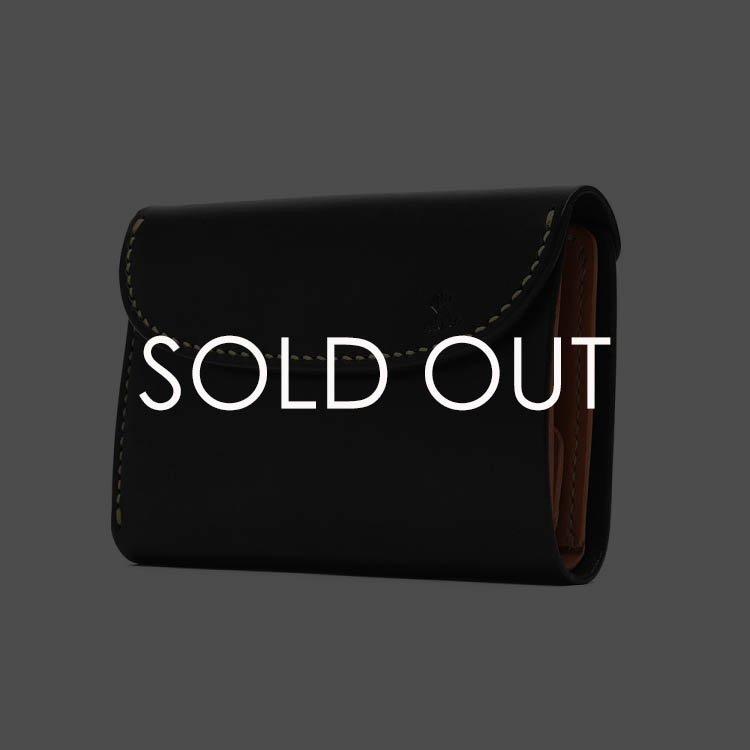 MOTO W6-BK 三つ折りウォレット 【ブラック】(▲受注生産)
