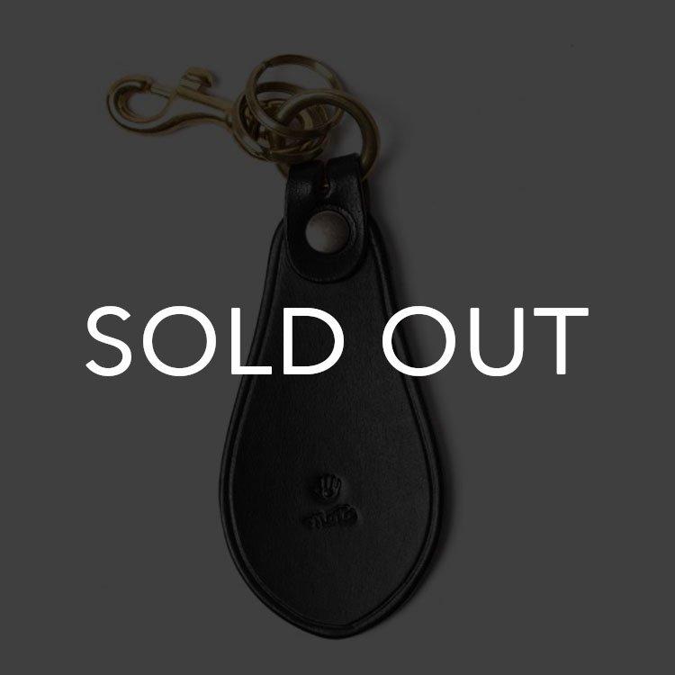 MOTO (モト) KH10D シューホーン手染めキーホルダー【ブラック】(▲受注生産)