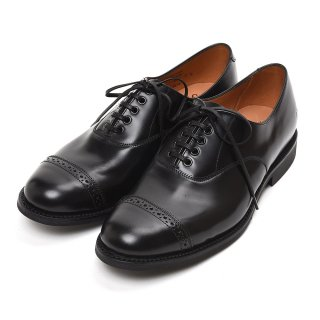 SANDERS (サンダース)  1947B Military Punched Cap Oxford Black