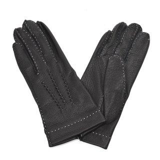 DENTS (デンツ) 17-1092 手縫いディアスキン アンライニング 【BLACK】レディース