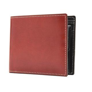 K.t.Lewiston KTW023R  ラフコードバン二つ折り財布 | U.RED(漆レッド)