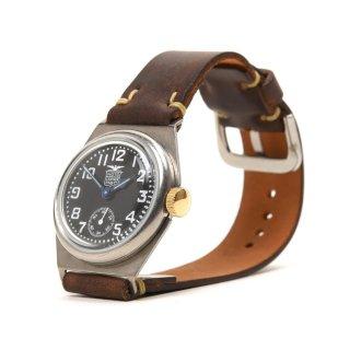 MOTO WT1V 腕時計 黒盤×手染めコードバンブラウン (メンズ)