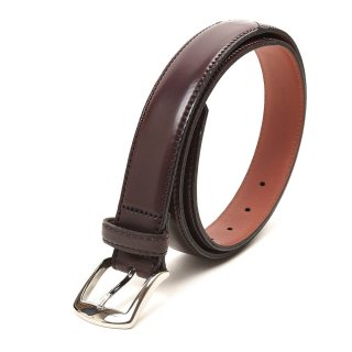 ALDEN (オールデン) ALB001 CORDVAN Dress Belt No8 BURGUNDY メンズ