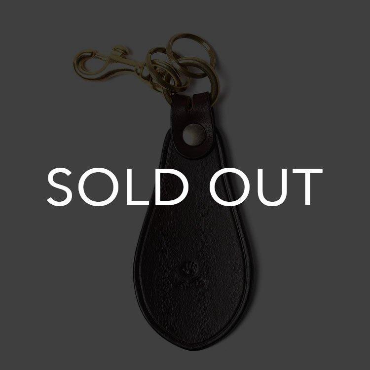 MOTO (モト) KH10D シューホーン手染めキーホルダー【ダークブラウン】(▲受注生産)