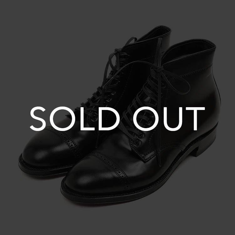 オールデン 41815H CAP TOE 6インチBOOT(ジャンパーブーツ) ブラック
