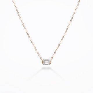 S002 ラボグロウンダイヤモンド<br>ネックレス / ピンクゴールド / 0.30カラット<br>【重要】2021.5.13より価格改定いたします。<br>【新価格】82,500円(税込)