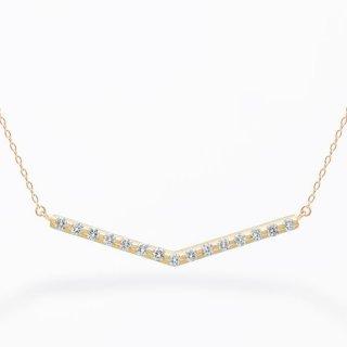 H002 ラボグロウンダイヤモンド<br>ネックレス / ゴールド / total0.20カラット