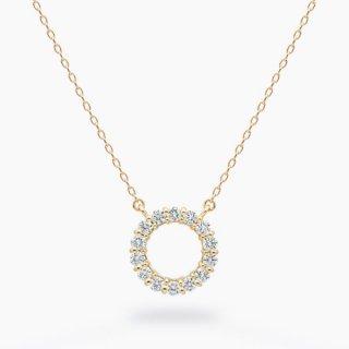 H004 ラボグロウンダイヤモンド<br>ネックレス / ゴールド / total0.18カラット