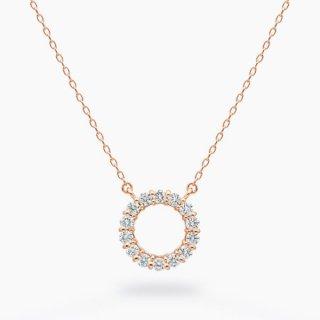 H004 ラボグロウンダイヤモンド<br>ネックレス / ピンクゴールド / total0.18カラット
