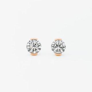 S003 ラボグロウンダイヤモンド<br>ピアス / ピンクゴールド / 0.50カラット*2