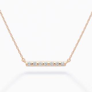 H001 ラボグロウンダイヤモンド<br>ネックレス / ピンクゴールド / total0.08カラット