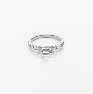 L005 ラボグロウンダイヤモンド/EM/<br>リング / プラチナ/ 1.00カラット