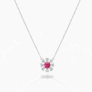 [お問合せ商品]C002 PINKラボグロウンダイヤモンド<br>ペンダント/プラチナ/0.40カラット