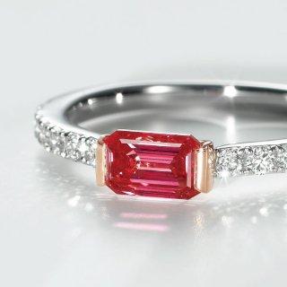 [お問合せ商品]<br>C005 REDラボグロウンダイヤモンド<br>リング/プラチナ&ピンクゴールド<br>0.67カラット