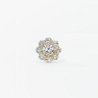S007 ラボグロウンダイヤモンド<br> シングルピアス / ゴールド / 中石0.50カラット