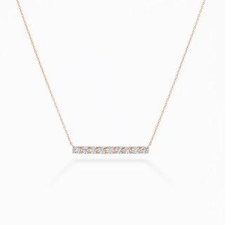 E001 ラボグロウンダイヤモンド<br>ネックレス / ピンクゴールド / total1.00カラット