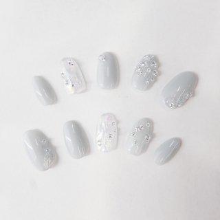 ラボグロウンダイヤモンドネイルチップ<br>total 0.90カラット/ Mサイズ