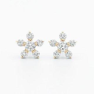 H019 ラボグロウンダイヤモンド<br>ピアス / ゴールド/ 0.16カラット*2