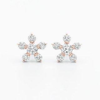 H019 ラボグロウンダイヤモンド<br>ピアス / ピンクゴールド/ 0.16カラット*2
