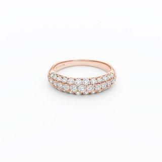 H025 ラボグロウンダイヤモンド<br>リング / ピンクゴールド / total1.00カラット
