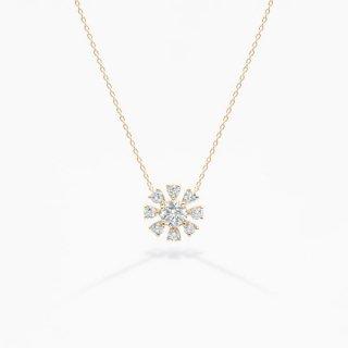 H022 ラボグロウンダイヤモンド<br>ネックレス / ゴールド/ total0.50カラット
