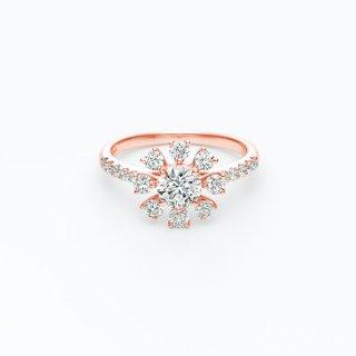 H022 ラボグロウンダイヤモンド<br>リング / ピンクゴールド/ 中石 0.50カラット