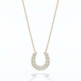 H029 ラボグロウンダイヤモンド<br>ネックレス /ゴールド/ total0.50カラット