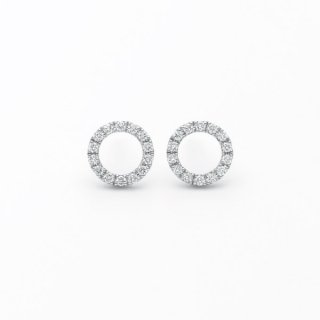 H032 ラボグロウンダイヤモンド<br>ピアス /プラチナ/ total0.17カラット*2