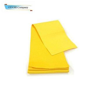 ゆかた帯 黄色無地 4寸 半巾帯 ひとえ帯 浴衣用 袴用 下帯 Z-3F