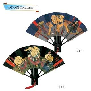踊り用 相撲絵図扇 相撲浮世絵小野川 梅ケ谷 飾り台・扇子箱入 飾り、撮影用