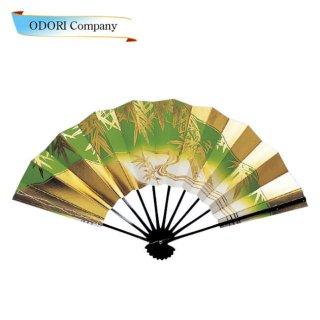 舞扇子(まいせんす) 扇子 踊り用 日本の踊り 扇子箱入 若草ボカシ 金竹 飾り、撮影用