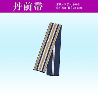 丹前帯 巾6.8cm 青白黄縞