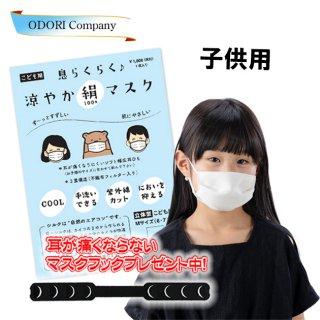 夏用 涼やか絹マスク 子供用  即発送 洗える 涼感 勝負マスク 日本製 不織布フィルター入り 正絹 シルク 小杉織物 1枚入り
