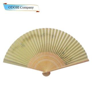 扇子 男性用 日本製 夏扇子 紳士用扇子 男物扇子 瓢箪に市松 白丸中彫 7.5寸 35間