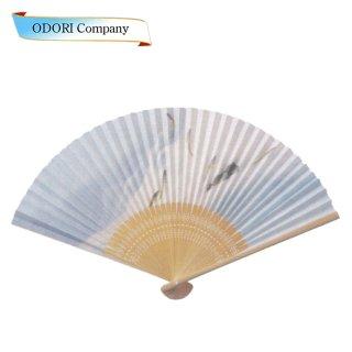 扇子 男性用 日本製 夏扇子 紳士用扇子 男物扇子 柳に燕 白丸中彫 7.5寸 35間