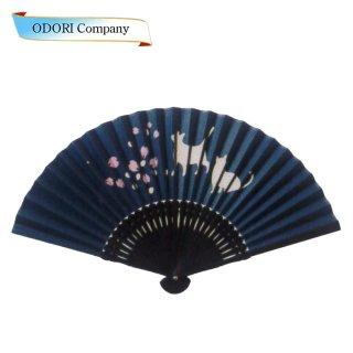 扇子 女性用 日本製 夏扇子 婦人用扇子 女物扇子 ボカシ 桜 唐木笹型 6.5寸 35間