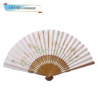 扇子 女性用 日本製 夏扇子 婦人用扇子 女物扇子 撫子 唐木 6.5寸 25間