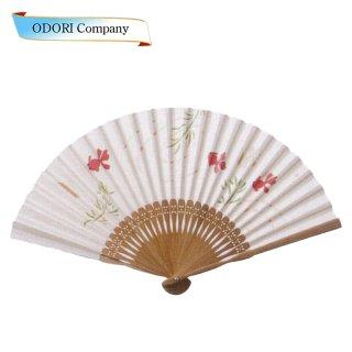 扇子 女性用 日本製 夏扇子 婦人用扇子 女物扇子 透かし黒猫 唐木 6.5寸 25間