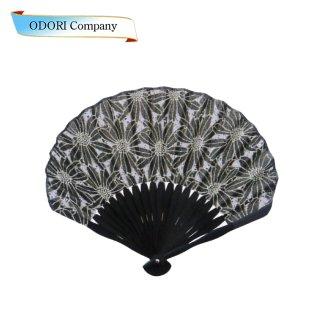 扇子 女性用 日本製 夏扇子 婦人用扇子 女物扇子 黄地パール 桜金魚 白丸中彫 6.5寸 35間