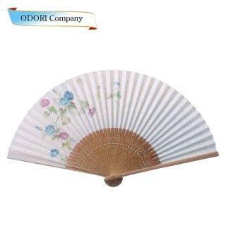 扇子 女性用 日本製  夏扇子 婦人用扇子 女物扇子 紅白梅 唐木中彫 6.5寸 35間