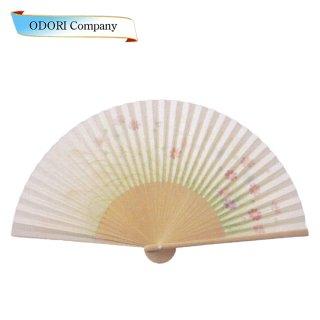 扇子 女性用 日本製 夏扇子 婦人用扇子 女物扇子 撫子 白丸中彫 6.5寸 35間