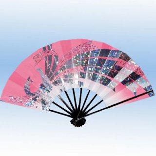 舞扇子(まいせんす) 扇子 踊り用 9寸5分 扇子箱入 ホログラム箔 たばね 飾り 撮影用