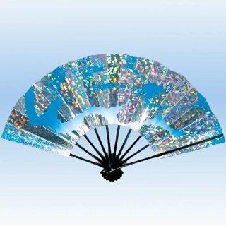 舞扇子(まいせんす) 扇子 踊り用 9寸5分 ホログラム箔 雲 飾り、撮影用