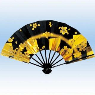 舞扇子(まいせんす) 扇子 踊り用 9寸5分 扇子箱入 金色紙に桜 飾り、撮影用
