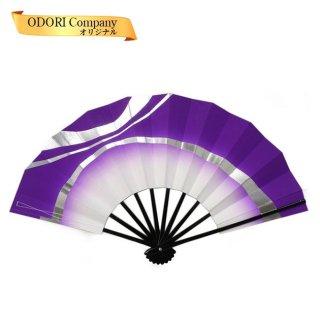 舞扇子 日本舞踊 扇子 舞踊 踊り用 おしゃれ よさこい 紫 ぼかし 銀ひも 当店オリジナル あですがた ad255