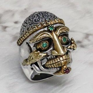 チベタン・モンク・スカル・リング : Tibetan Monk Skull Ring