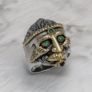 チベタン・モンク・スカル・リングS : Tibetan Monk Skull Ring S